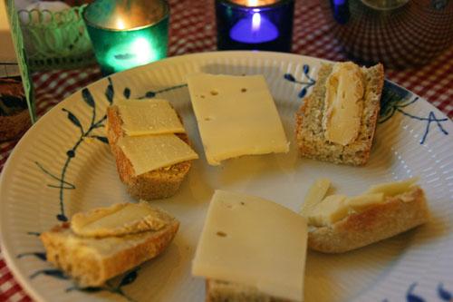 Focaccia med Appenzeller, Vesterhavsost og Brie de Meaux