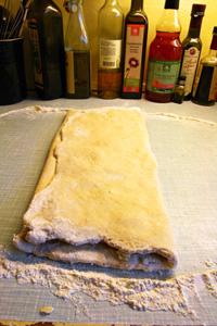 Foldet dej til croissanter