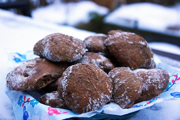 Guinessboller i sneen
